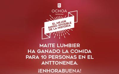 ¡Ganadora del sorteo Amigo Invisible Ochoa!