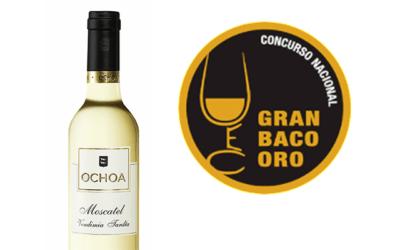 Ochoa Moscatel Vendimia Tardía 2015 se alza con un Gran Baco de Oro