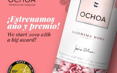 Bodegas Ochoa starts 2019 with great news: Lagrima Rose, best rosé of Spain by AEPEV