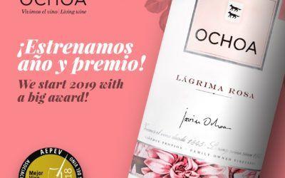 Bodegas Ochoa comienza el año con un premio de la AEPEV para el Rosado de Lágrima