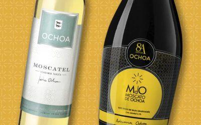 ¿SABÍAS QUE… la temperatura recomendada para servir los vinos dulces Ochoa Moscatel y MdO Moscato de Ochoa es de 8-10 grados?